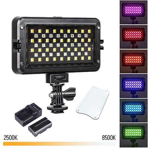 QYRL Modo De Colores Luz De Vídeo LED RGB De Iluminación Regulable ...