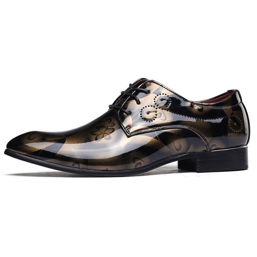 LEDLFIE Herren Echtleder Schuhe Mode Casual Lederschuhe Schnürschuhe