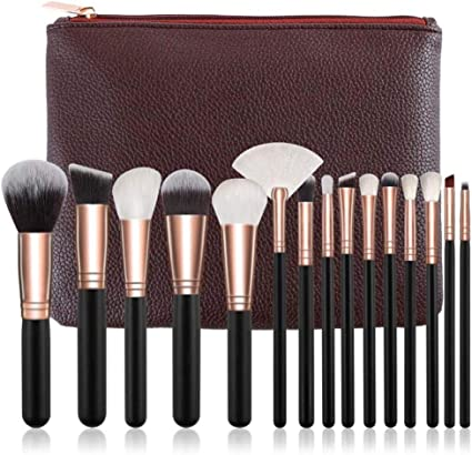 Brochas Para Maquillaje Pinceles De Maquillaje Set Powder Eye Brush Kit Completo Cosméticos Herramientas De Belleza Con Estuche De Cuero: Amazon.es: Belleza