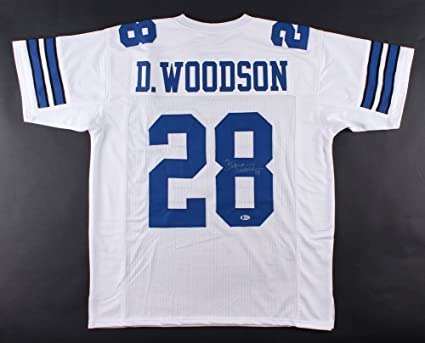 Image Unavailable. Image not available for. Color  Darren Woodson  28 Signed  Dallas Cowboys Jersey ... 9ece1b3a5