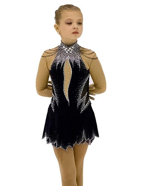 969246d7298ff9 Heart&M Vestito Pattinaggio Artistico per Ragazze, Pattinaggio Artistico,  Costume Professionale con Cristalli di Alta