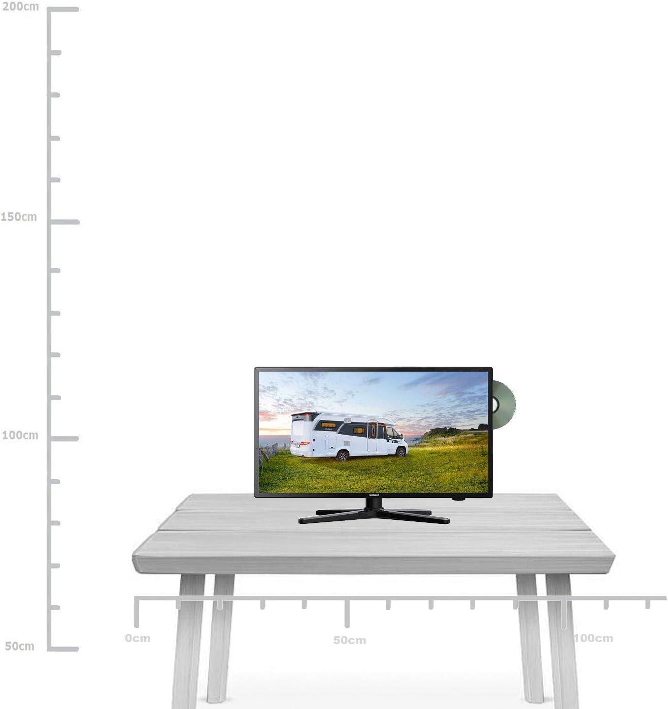 Gelhard GTV de 2482 LED 22 Pulgadas Wide Screen TV DVD DVB-T/S/S2/T2/C 230/12 V 24 V para Caravana Camping Coche camión Truck y Casa: Amazon.es: Electrónica