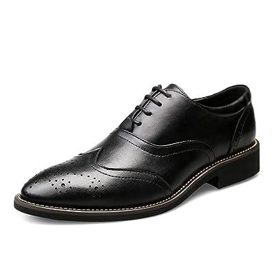 ailishabroy Männer Freizeit Schuhe Herren Schwarzem Leder