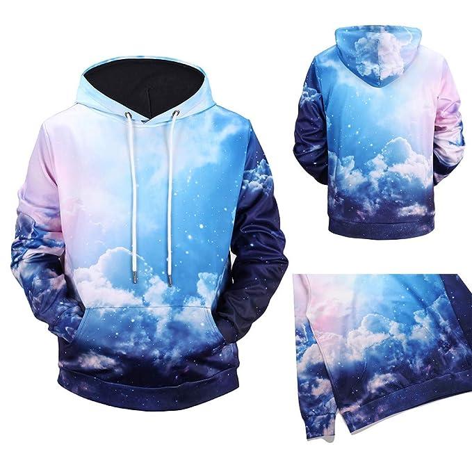 Suéter de Manga Larga con Estampado de Cielo en Color Celeste de Autumn and Winter Clouds por Internet: Amazon.es: Ropa y accesorios