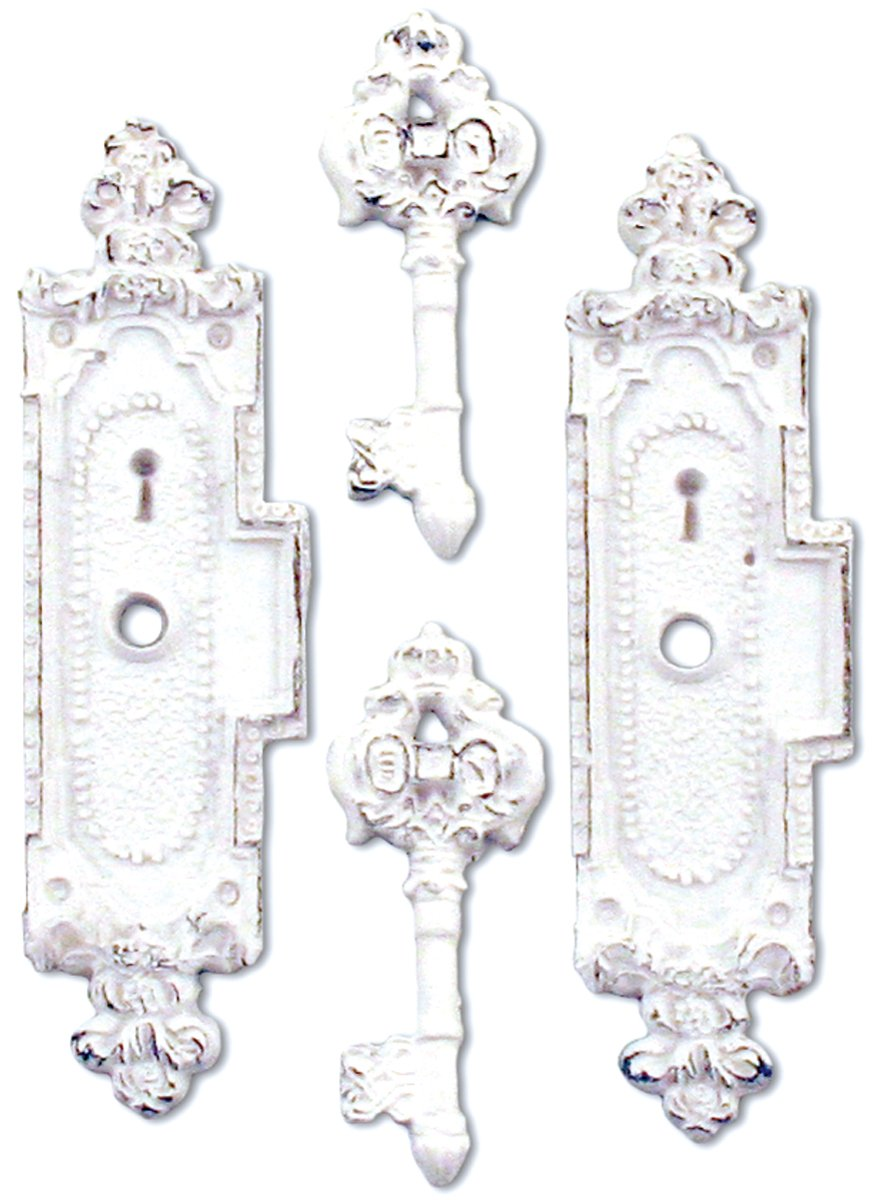Resin Embellishments 4/Pkg-Lockboxes & Keys .375
