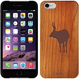 Coveroo iphone 6 4.7 Madera Wood Thinshield Case with Bull Design