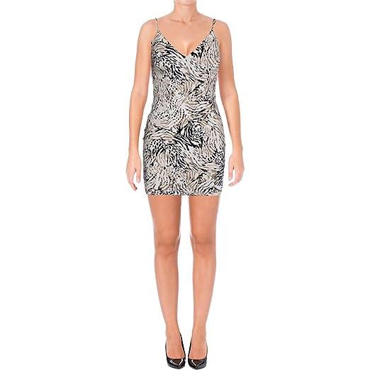 GUESS Womens Shiloh Open Back Clubwear Bodycon Dress Tan M at Amazon ... 989eee3549b42