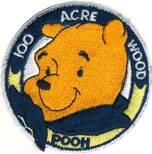 Embroidery Patch Winnie The Pooh Bear 100 Acre Woods 2.5