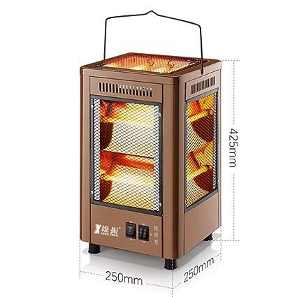 GJM Shop Calentamiento De Tubo Cinco Lados De Calefacción Calentador De Ventilador Eléctrico Parilla Uso Dual