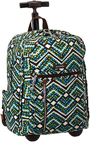 Vera Bradley Women's Rolling Backpack, Rain Forest