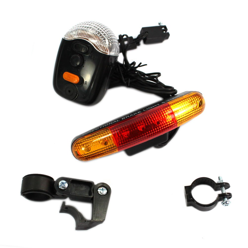 Afrom Here Waterproof Bicycle Bike Turn Signal Brake LED Light Tune Horn for Outdoor