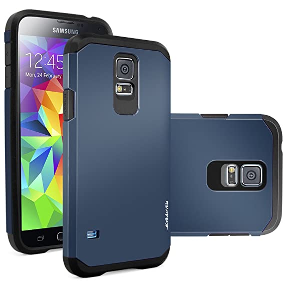 Amazon.com: S5 caso, Galaxy S5 Caso, cellularvilla [Hybrid ...
