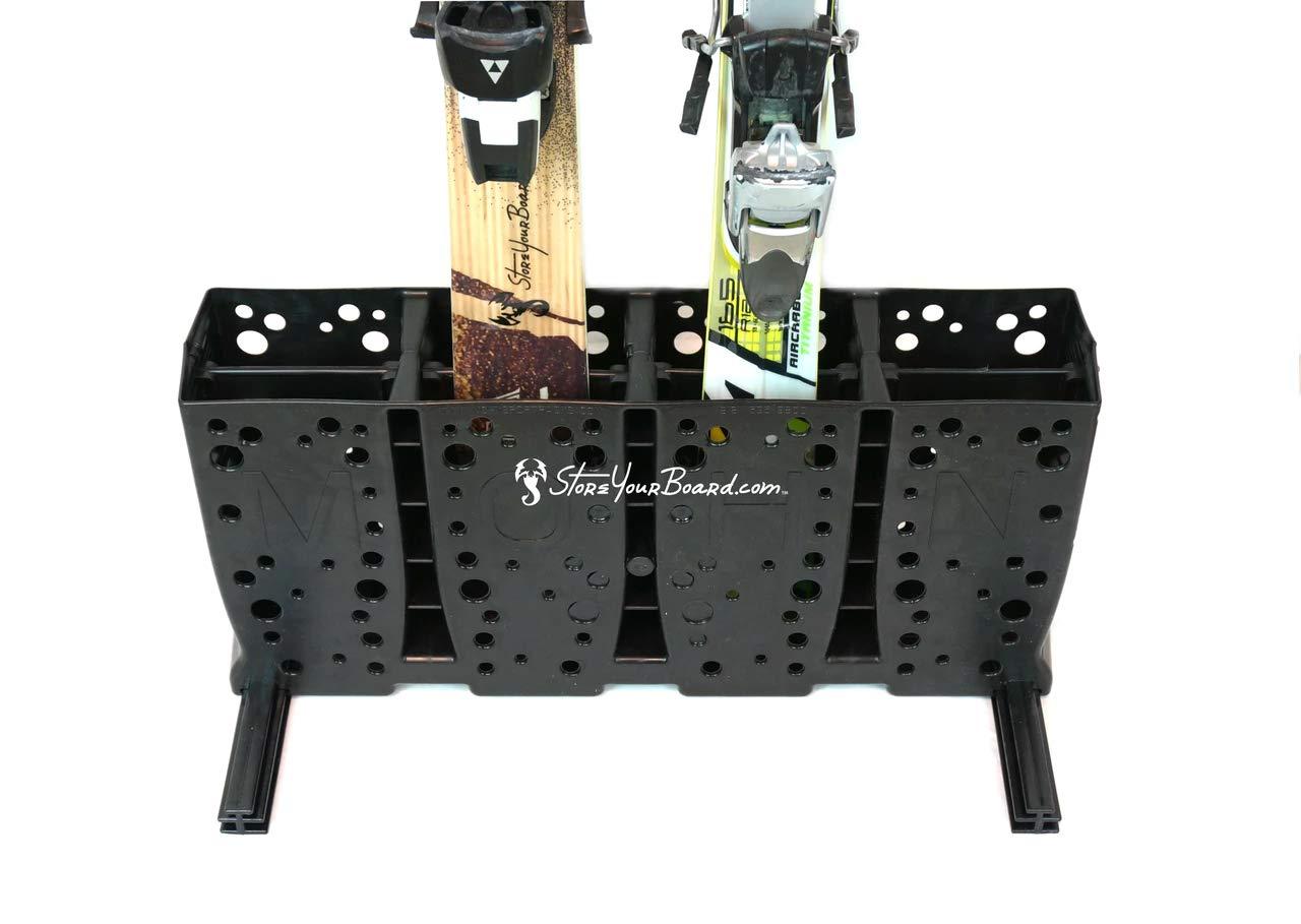 Standard Skis StoreYourBoard Ski Storage Rack Freestanding 5 Pair Skis Floor Rack