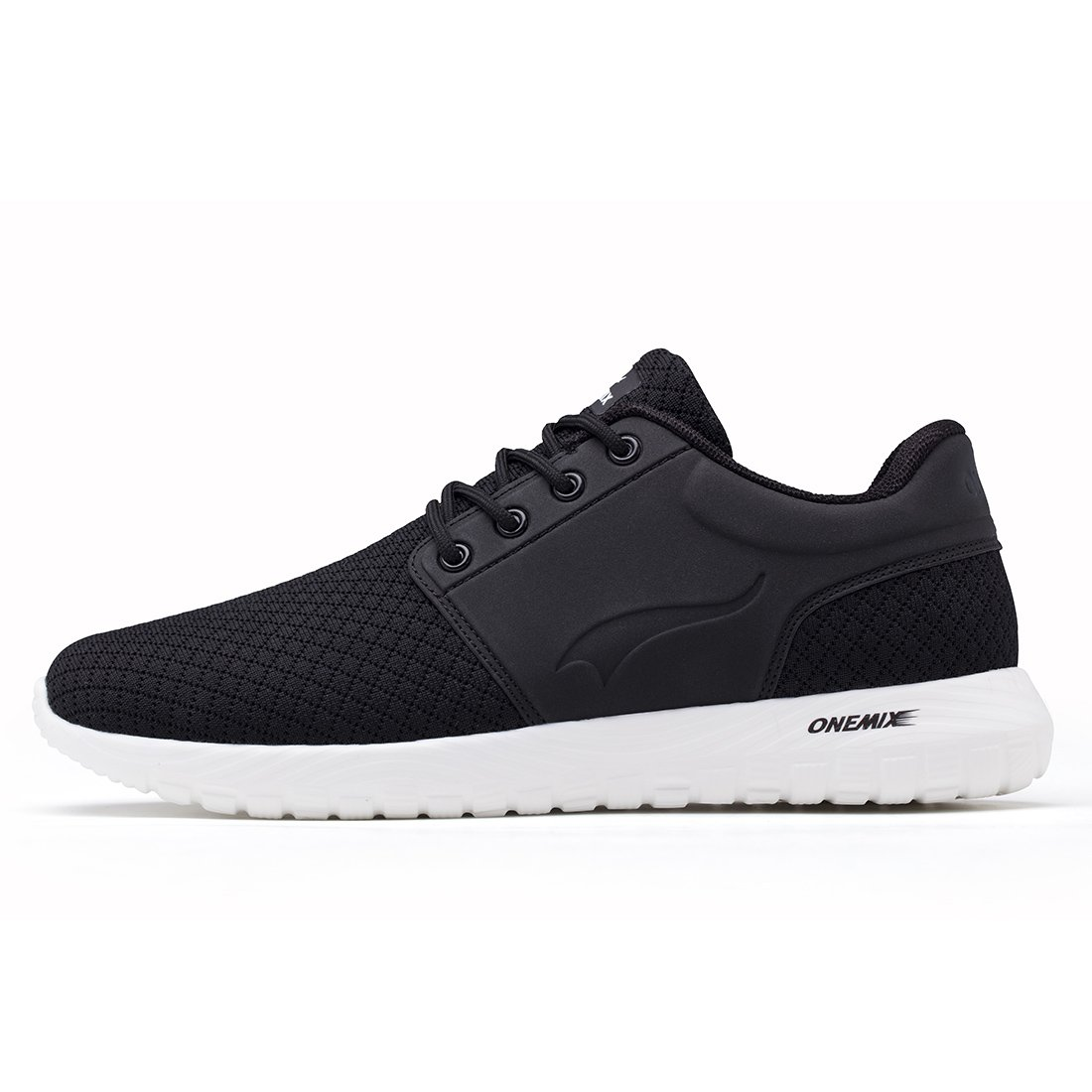 ONEMIX Lightweight Running Shoes - Men's Breathable Casual Sports Sneakers Mesh Soft Sole Casual Athletic Shoes 1265-Black45