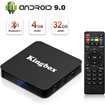 Kingbox Android TV Box, K1 Plus Android 7.1 Box soporta 4K (60Hz) Full HDMI/H.265/BT 4.0/2.4 GHz WiFi Android Smart TV Box: Amazon.es: Electrónica