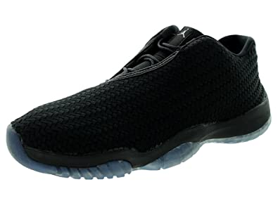 outlet store b72c3 c58d7 Jordan Nike Men s Air Future Low Black Metallic Silver Black Casual Shoe 8  Men