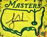 Masters golf flag signed tiger woods jack nicklaus arnold palmer 30 champs - PSA/DNA Certified - Autographed Pin Flags