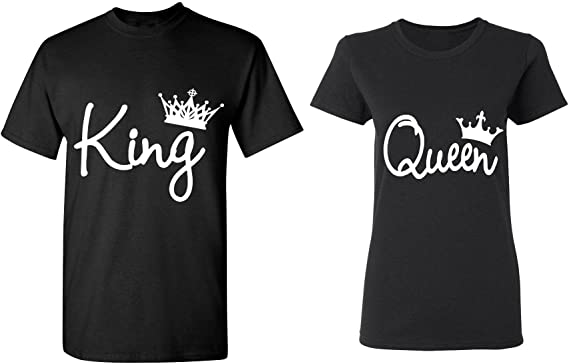 Couple Love King & Queen Matching Couple Shirts His and Her T Shirts