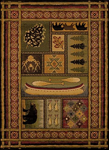 GetSet2Save 22×36 Decorative Accent Rug Lodge