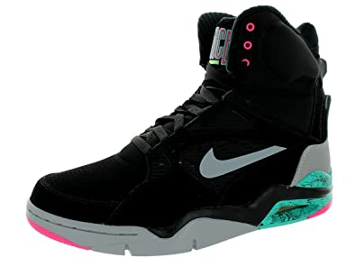 NIKE Air Command Force Mens Basketball Shoes 684715-001 Black Wolf Grey-Hyper  Jade