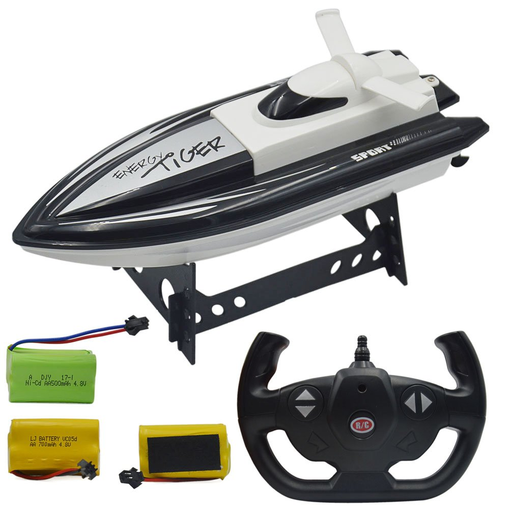 Blomiky F3 11.5'' 2.4GHz RC Boat for Pool and Lake Support Multi-Player F3 Ship Black