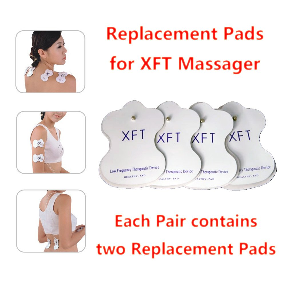 XFT Electric Massager replacement pads for XFT-320 XFT-502 (4 Pairs)