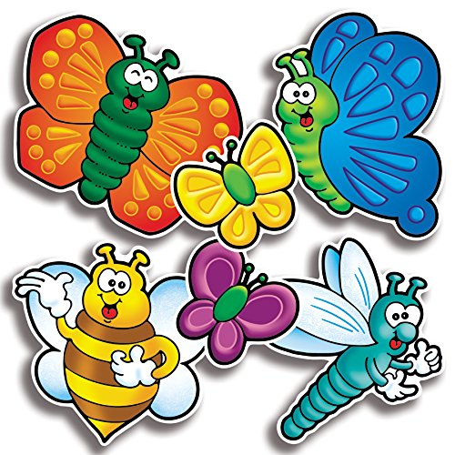 Scholastic TF3256 Bees, Bugs & Butterflies Accent Punch-Outs