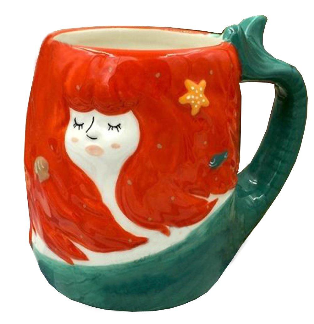 3D Ceramics Fruit / Animal Handwork Coffee Mug Water Tea Cup - Pig/Panda/Fox/ Strawberry/Pineapple/Mermaid