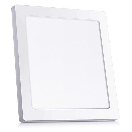 Oeegoo 18W LED Plafón de Superficie Cuadrado Lámparas de Techo 1530 Lúmenes Reemplaza Bombilla Incandescente 130W