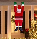 Life Size Gemmy Gutter Hanging Santa Claus Suit Outdoor Christmas Yard Decor