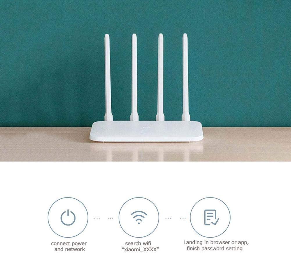 snowvirtuos Xiaomi Mi Router 4C 4 Antena 2.4G 300Mbps Control WiFi inalámbrico Router