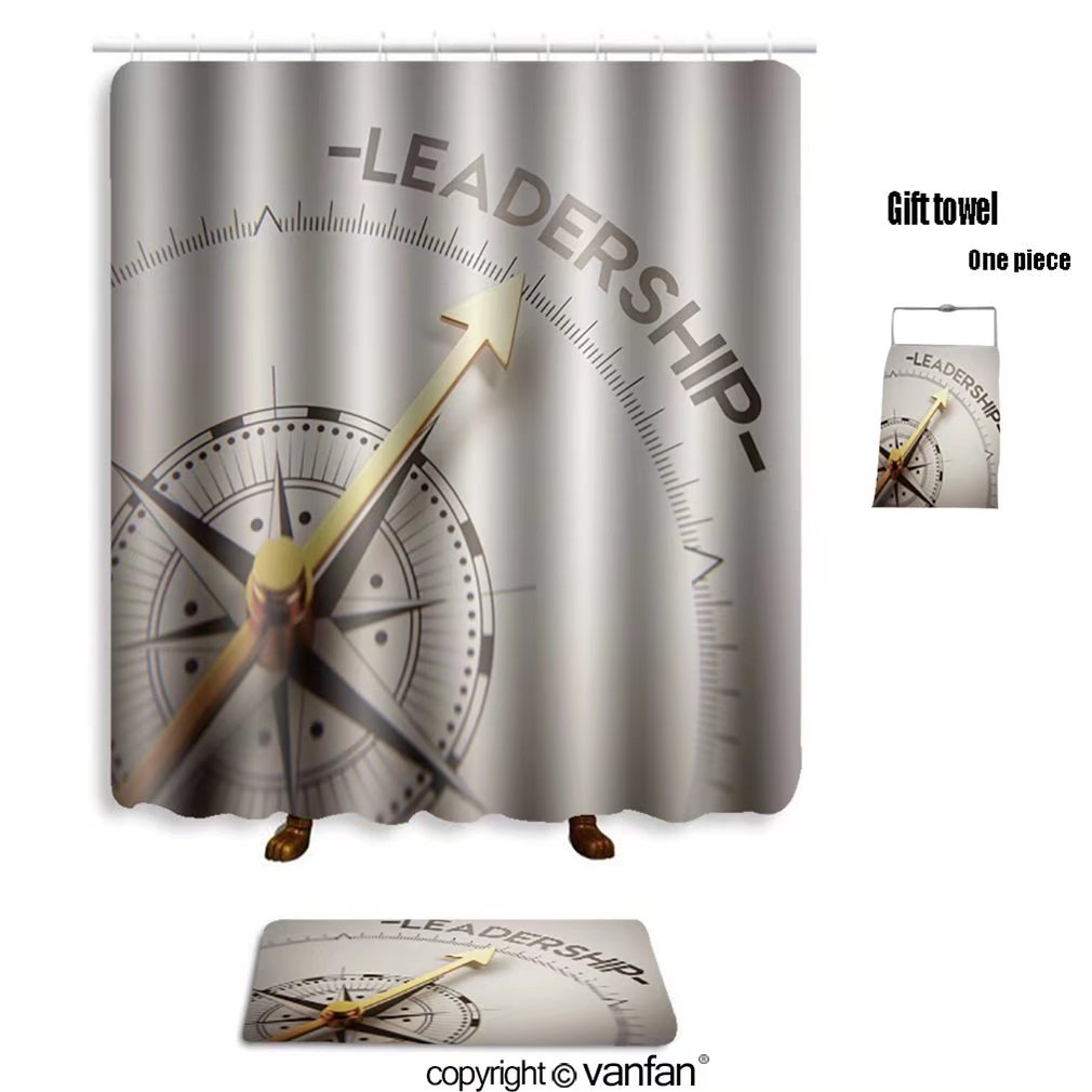 vanfan bath sets with Polyester rugs and shower curtain high resolution leadership concept 195219977 shower curtains sets bathroom 72 x 84 inches&31.5 x 19.7 inches(Free 1 towel and 12 hooks)