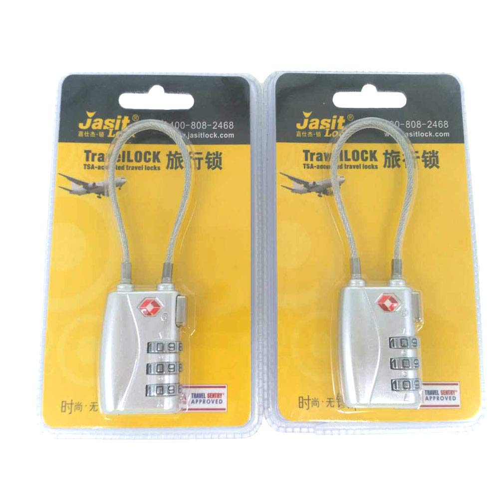 TSA Compatible Travel Luggage Locks Inspection Indicator Easy Read Dials