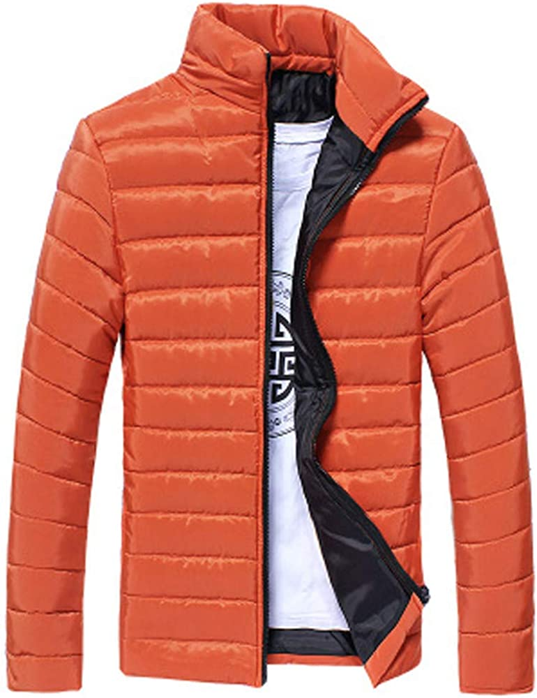 Mens Down Coats,Warm Stand Callor Down Jacket Winter Hooded Puffer Coat Teens Boys Outdoor Thick Padded Zulmaliu