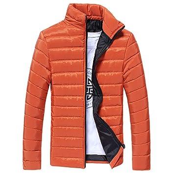 Sencillo Vida Chaquetas de Algodón Cuello Alto y Ligero de Primavera 2019 para Hombre Abrigo Outwear con Cremallera Chaqueta Acolchado Cazadoras de ...