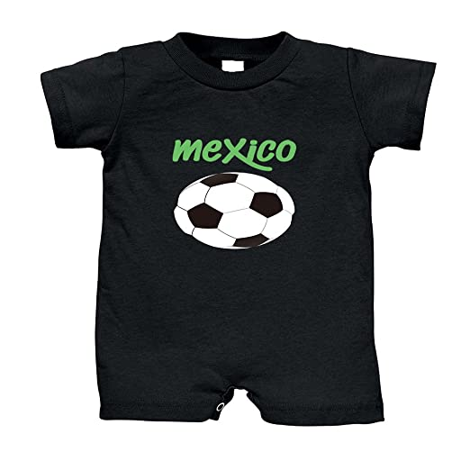Cute Rascals Soccer Mexico Soccer Infant 100% Cotton T-Romper Jersey Tee -  Black 53705d34e