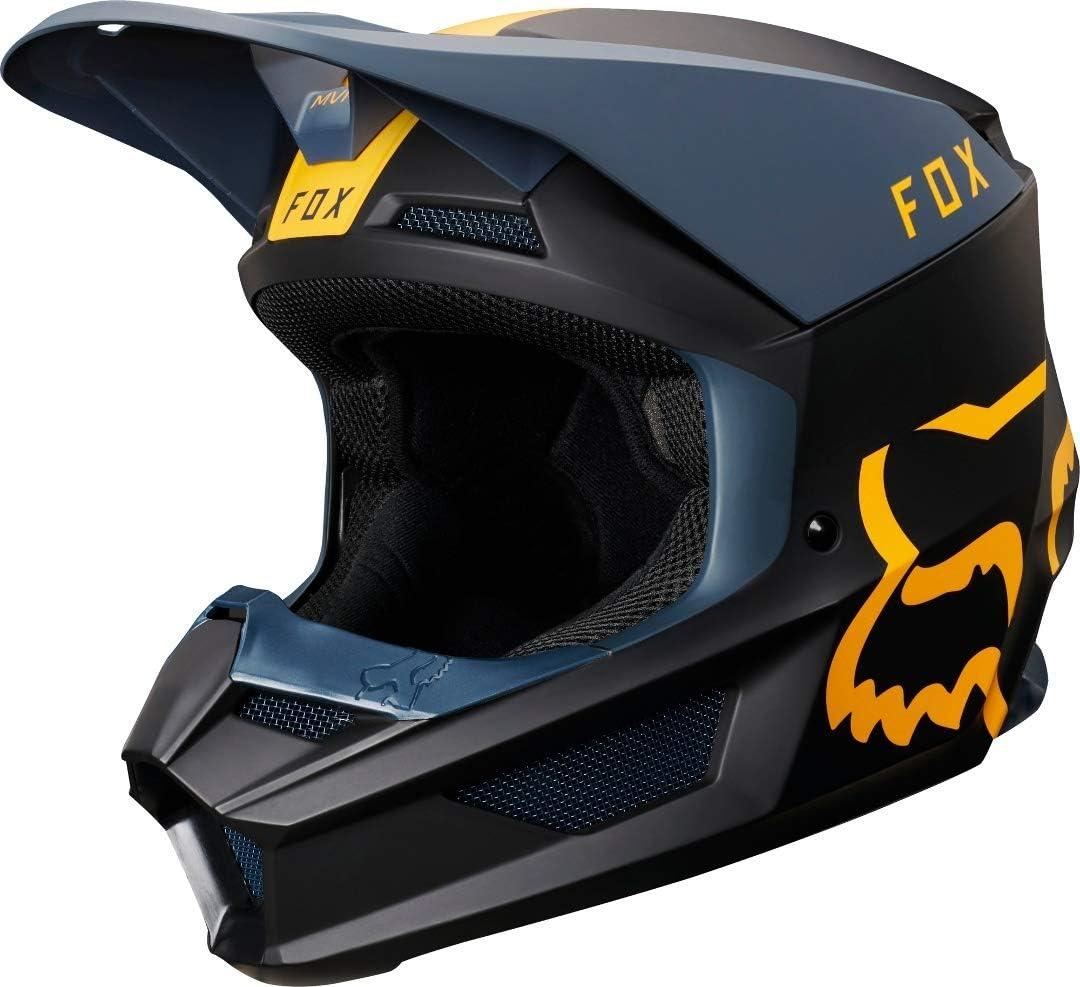FOX V-1 MATA Helmet Enfant Unisexe XL Navy//Yellow