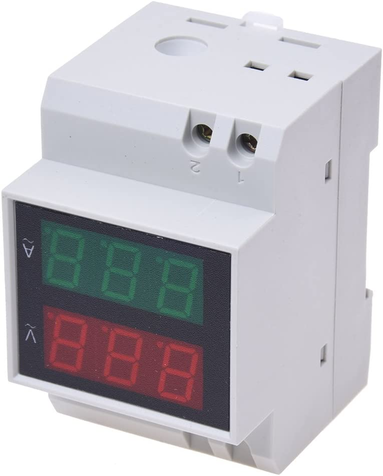 Voltmetro Blu-Blue AC 100~300V 0-100A LED Ampere Meter Display digitale Voltmetro di corrente a due fili