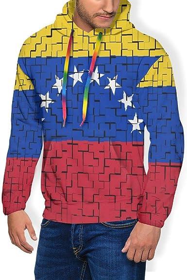 LanDu Venezuela Flag Puzzle Sudadera con Capucha para Hombres ...