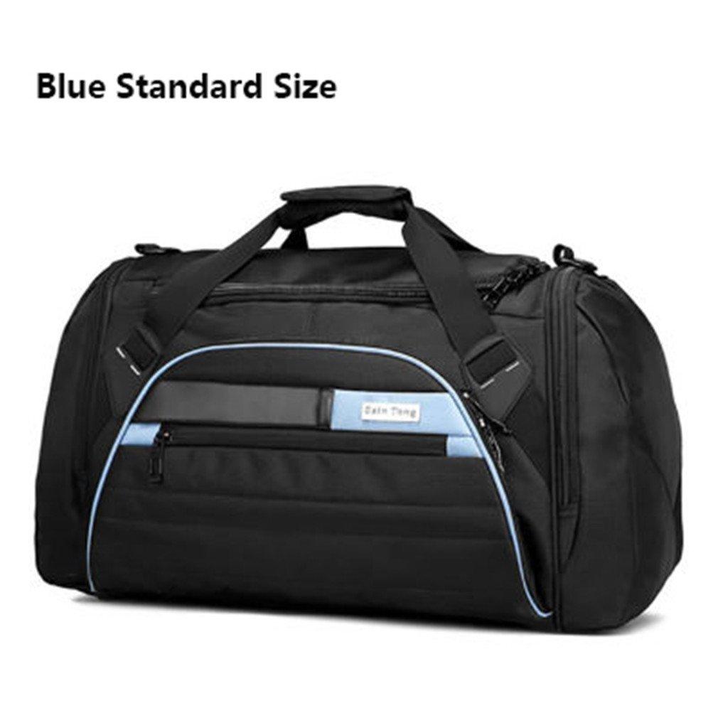 Breadaye 45L Sport Bag Men Women Fitness Gym Bag Waterproof Travel Sports Tote Shoulder Bags HAB092 blue standard size