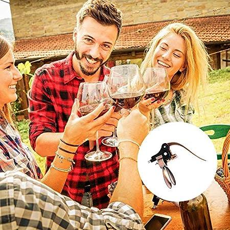 BESTINE Sacacorchos para Conejos, Conejo Botella de Vino Sacacorchos de Palanca Botellas de Conejo abrelatas Tornillos para Bar Hotel Boda Festival Amantes del Vino de cumpleaños (Cobre,4)