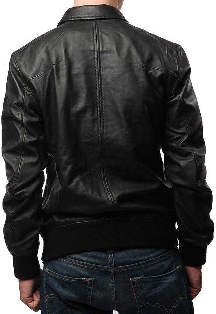 Lambskin Leather Jacket Genuine Leather Biker Coat KL552