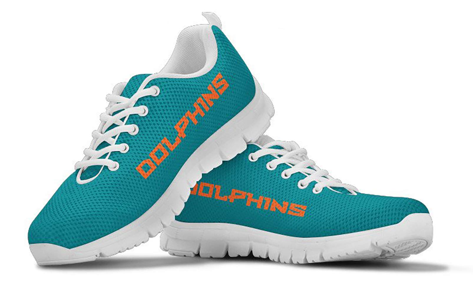 Miami Dolphins Themed Casual Athletic Running Shoe Mens Womens Sizes Football Apparel and Gifts for Men Women Fan NFL…