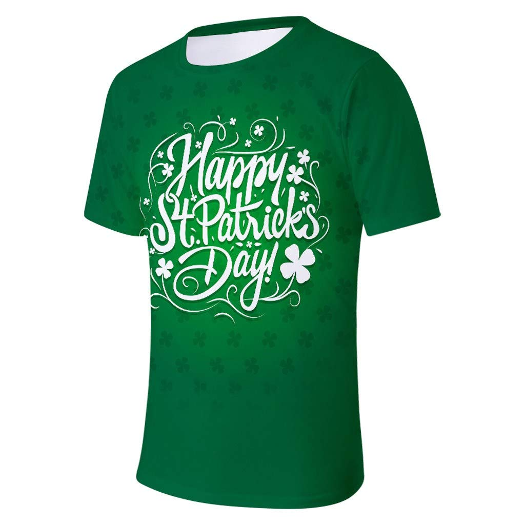 Round Neck Letters Muscle Shirt Green Tank Top Only Left Mens Tops Patricks Day Clovers T Shirts for Men MISYAA St