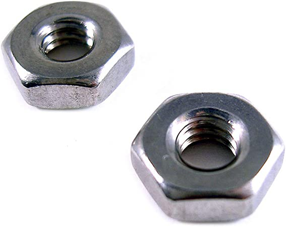 Qty 100 Stainless Steel Finish Hex Machine Screw Nut #1-64