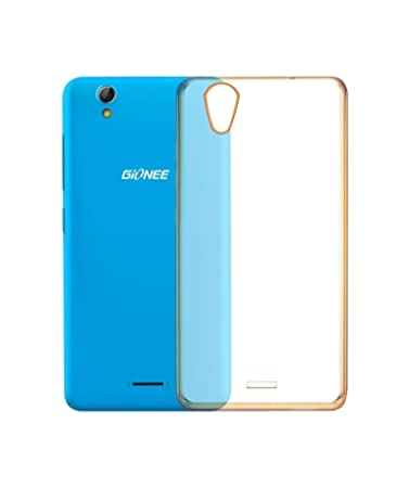 size 40 3edc4 5ce8f COVERNEW Back Cover for Gionee P5 Mini Gold Transparent Best Price ...