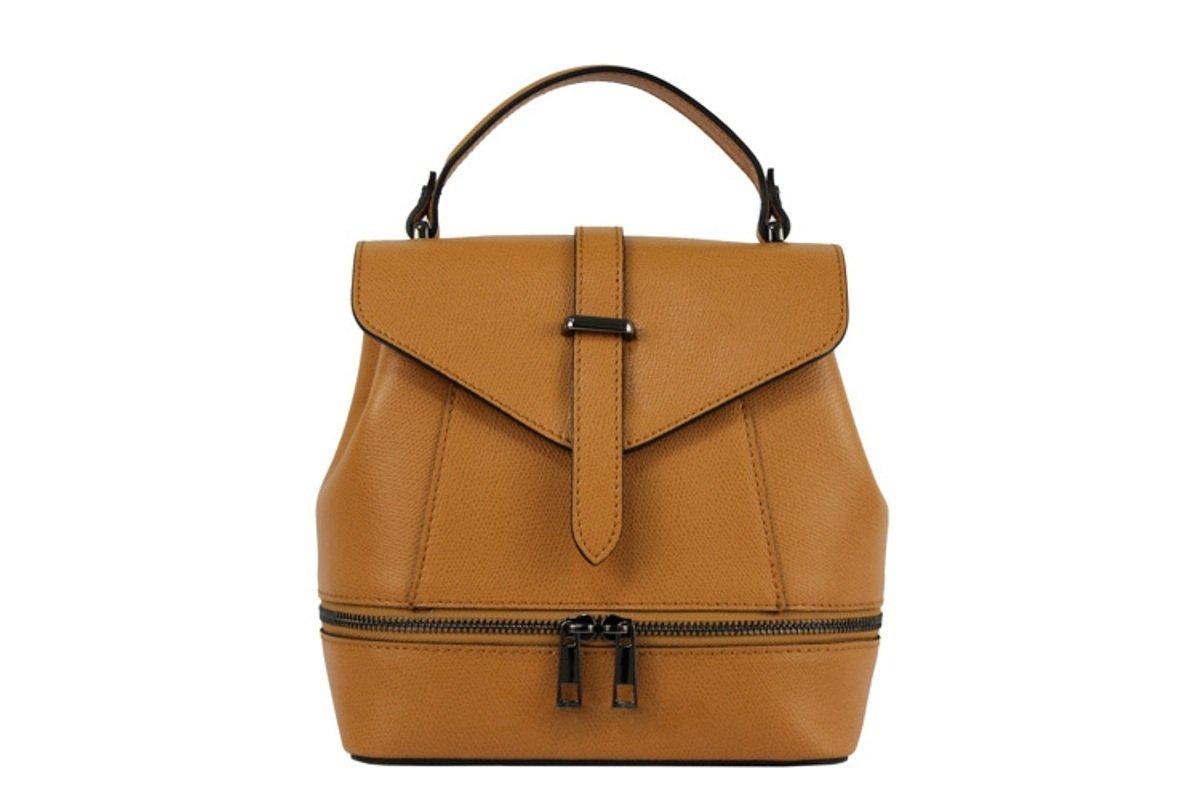 Damen Leder Rucksack Tasche, Hergestellt in Italien Rosso MainApps Zeta Shoes