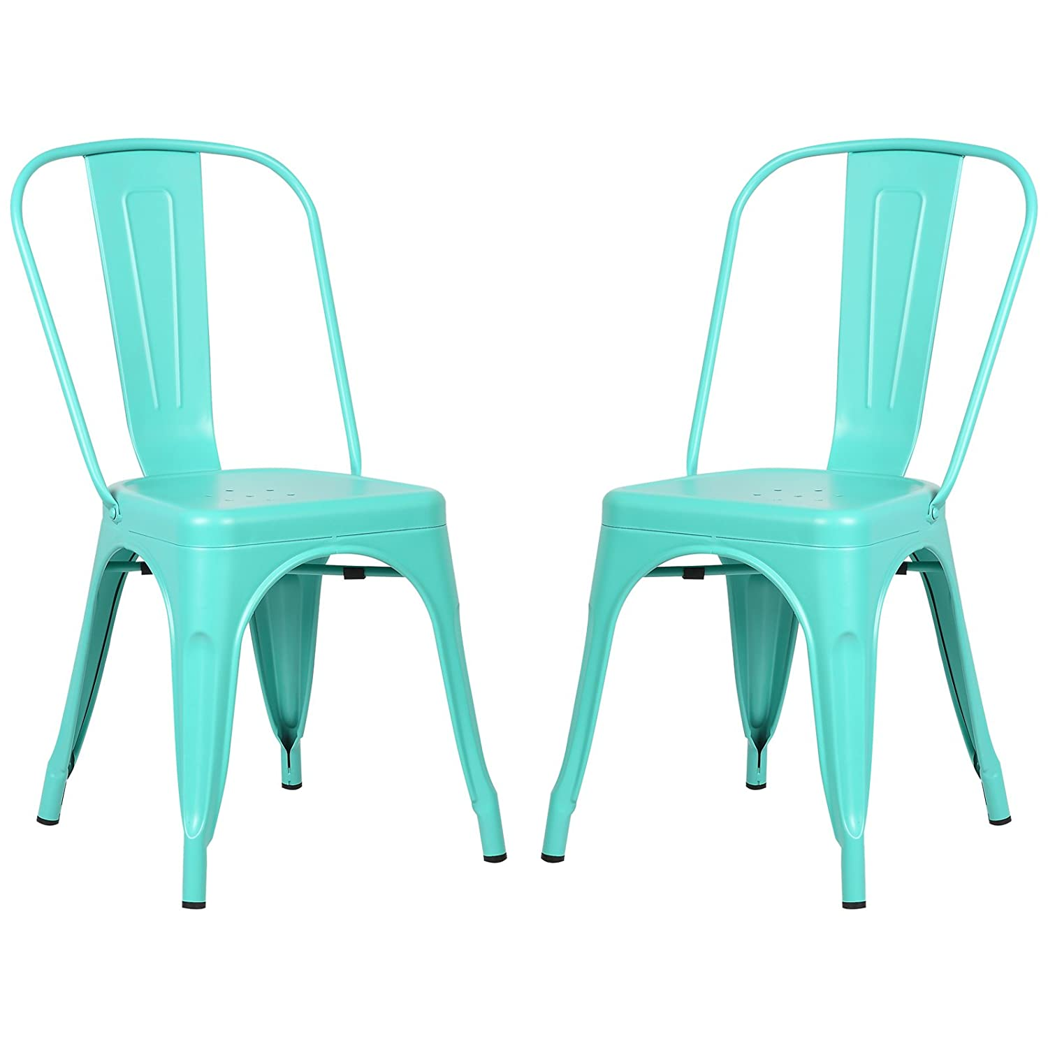 Amazon.com - Poly and Bark Trattoria Side Chair in Aqua (Set of 2 ...