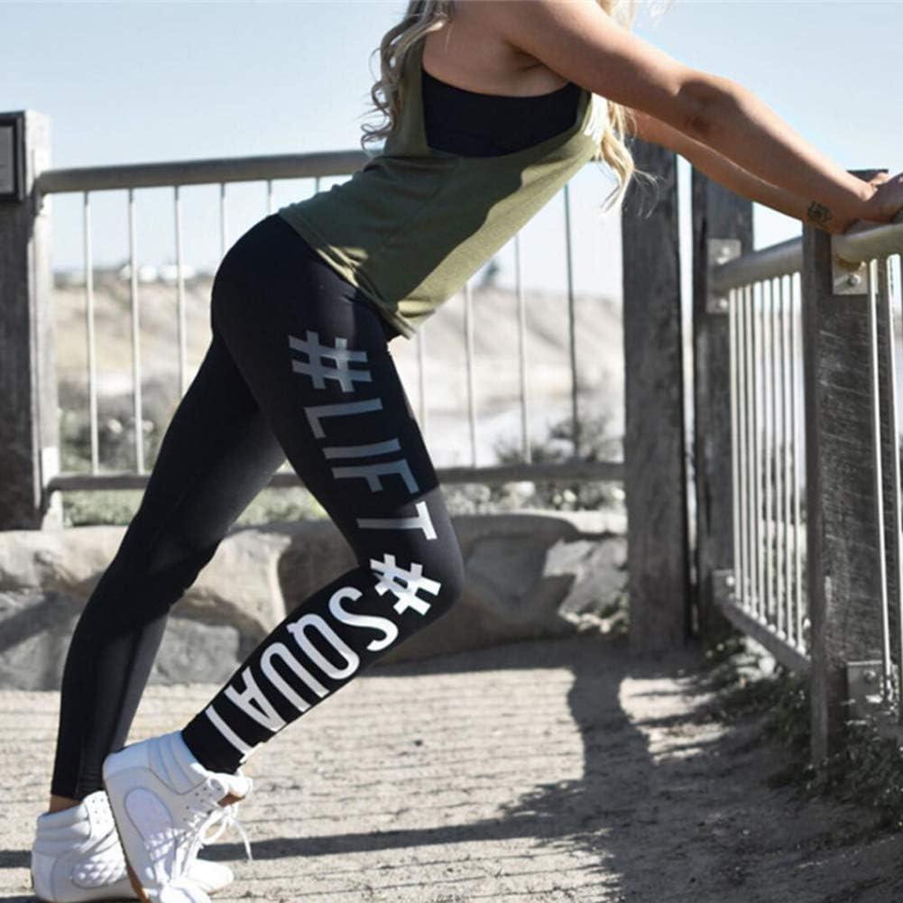 Leggings Slim Yoga Fitness Deportes Pantalones de Yoga Pantalones Deportivos para Mujeres Casual Impresi/ón Digital de Cintura Alta