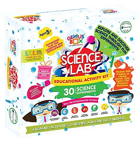 (Genius Box Science Lab Toddler kit | 30 Science Experiment kit | DIY Activity Kit | Puzzles Game for Over 5 Years Kids | STEM | Fun Learning Toys |)